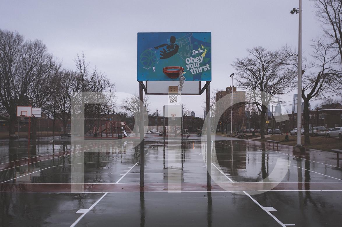 Hoop dreams pixels in colour for Small basketball court